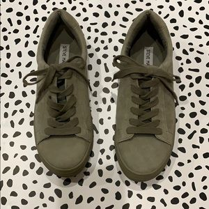 Steve Madden Gisela Olive Green Sneakers